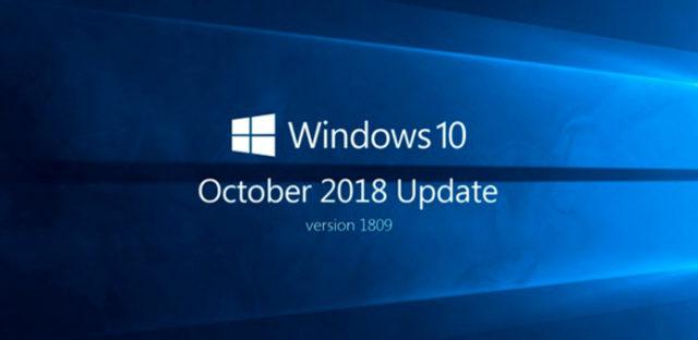 Actualización de Octubre de Microsoft Windows 10